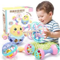 宝宝曼哈顿手抓玩具0至三四五6个月5婴幼儿发声摇铃3益智启蒙早教