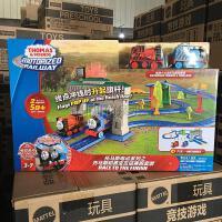 正品托马斯火车电动系列托马斯和勇宝友谊赛跑套装轨道玩具FRL57