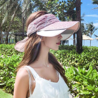 户外遮阳帽女防晒遮脸百搭大沿帽韩版女士空顶凉帽时尚洋气太阳帽