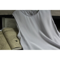 原单圆领重磅真丝双绉丝绸宽吊带背心女纯桑蚕丝上衣打底衫大码