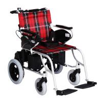 互邦 电动轮椅车 HBLD1-A 靠背可折叠 铝合金烤漆车架 国产智能万向控制系统 后轮双驱动 电子刹车 固定扶手 固