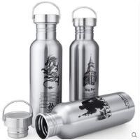 创意图案防漏单层水壶不保温不锈钢运动水壶户外水杯男女士杯子