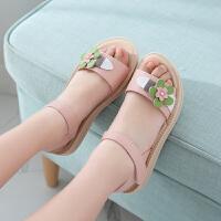 女童凉鞋新款沙滩鞋夏季韩版小学生女孩中小童露趾公主凉鞋潮