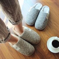 冬季男士棉拖鞋男 新款包跟厚底毛拖鞋居家保暖加厚棉拖鞋毛毛鞋