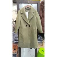 J2韩版秋冬新款呢子大衣加厚仿貂绒毛呢大衣女中长款外套1.2
