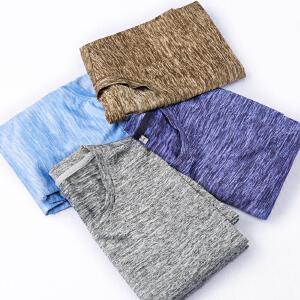 夏季新款男士休闲运动套装韩版潮流短袖t恤青少年五分裤短裤 圆领