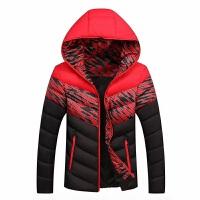 冬季新款运动休闲跑步棉衣男士加厚羽绒外套连帽修身时尚棉袄羽绒服保暖轻薄