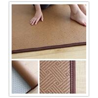 夏季藤编凉席地毯客厅卧室地铺榻榻米垫床垫夏天儿童游戏垫爬行垫 咖啡色 T802