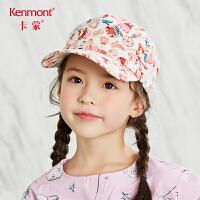 卡蒙3-6岁宝宝帽子春秋女孩薄款鸭舌帽女童棒球帽夏天儿童空顶帽 4617
