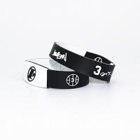 篮球球星艾弗森保罗霍华德科比黑曼巴运动男女篮球休闲运动训练配饰腕带手环