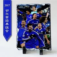 足球球星C罗梅X贝克汉姆欧冠杯捧杯纪念品球迷摆设石板摆件礼物