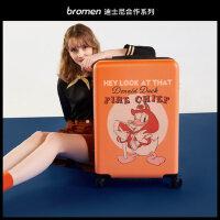 不莱玫迪士尼24行李箱女可爱卡通20拉杆箱轻便米奇登机箱子万向轮