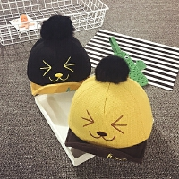 婴儿帽子秋冬6--24个月男女宝宝帽子1-2岁韩版保暖儿童鸭舌帽潮