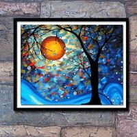 印花十字绣新款客厅星空梵高好梦成真梦之树世界名画小幅挂画