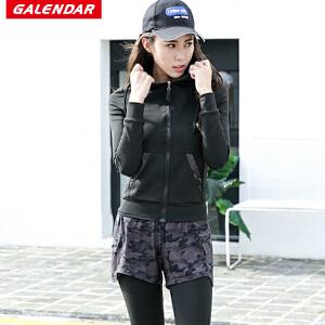 【夏季特惠】Galendar瑜伽服套装2018新款运动跑步健身三件套女修身显瘦运动套装GA9005