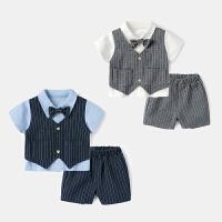 婴儿短袖套装夏季新生儿t恤半袖婴幼儿休闲短裤宝宝夏装两件套