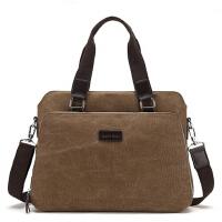 男包手提包横款单肩包斜挎包公文包男士休闲电脑包商务包帆布包包