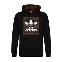 Adidas阿迪达斯男装卫衣 2018新款三叶草运动休闲连帽套头衫 DH3919
