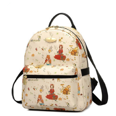 学院风英伦书包女韩小熊双肩包韩版pu简约旅游背包 品质保证 售后无忧 支持货到付款