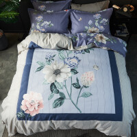 中国风生态磨毛系列大版花床上用品1.5米1.8米四件套中式新中式