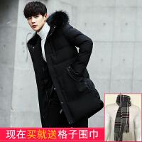 棉衣男中长款韩版新款加绒加厚修身棉袄羽绒男士冬季外套