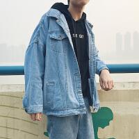 2018春季新款男士夹克韩版潮百搭牛仔衣宽松帅气青年外套