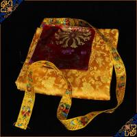 藏传佛教用品 修行法器 提花龙纹包经布 经书盖 经书盖 均码