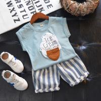 宝宝套装男童儿童新运动服帅气女童衣服韩版时尚潮衣