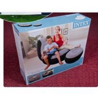 植绒单人INTEX68564充气沙发床单人休闲个性沙发懒人沙发