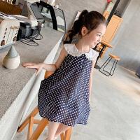 女童连衣裙夏装2小女孩雪纺裙子儿童波点背心裙