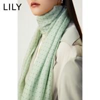 【5.7-5.14抢购价:134元】LILY春款女装轻薄飘逸气质几何印花长方形丝巾120110AZ804