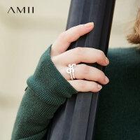 Amii[极简主义]率直个性 立体数字戒指女 冬新食指环百搭配饰