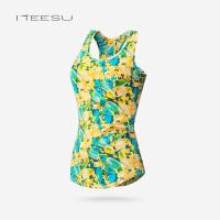 瑜伽服女秋冬季运动跑步工字背心带胸垫健身上衣内衬透气