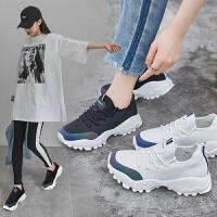 ZHR2018秋季新款韩版内增高小白鞋老爹鞋单鞋ins港风女鞋超火鞋子