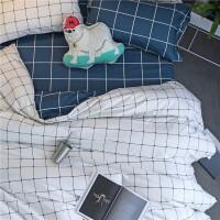 床上四件套棉棉1.8/2.0m床1.5米双人简约床单被套三件套宿舍