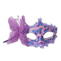 圣诞节日面具男女宝宝创意变脸孙悟空面罩头套舞会通用 蝴蝶款 颜色随机