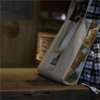 向日葵女单肩全棉帆布包学生书包斜挎包包