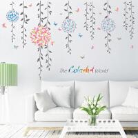 浪漫客厅电视沙发背景墙贴纸文艺卧室寝室宿舍自粘墙纸墙壁纸贴画