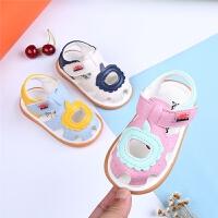 夏季宝宝凉鞋1-2岁男女宝宝软底学步鞋包头婴儿凉鞋