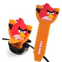愤怒的小鸟锯齿绕线器 理线器 理线带 整理器 随机发