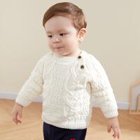 宝宝毛衣冬装加绒男童针织衫冬季洋气秋冬婴儿保暖上衣套