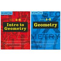 【首页抢券300-100】Kumon Geometry Grades 6-8 Collection 小升初数学几何2册套