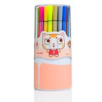 卓峰 36色筒装可洗水彩笔(图案随机)ZF9903可水洗彩色画画笔儿童文具幼儿园画笔绘图涂鸦粗杆小学生水彩笔 当当自营