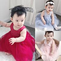 蓓莱乐婴童装女宝宝连衣裙子背心裙夏婴儿裙子公主裙夏装