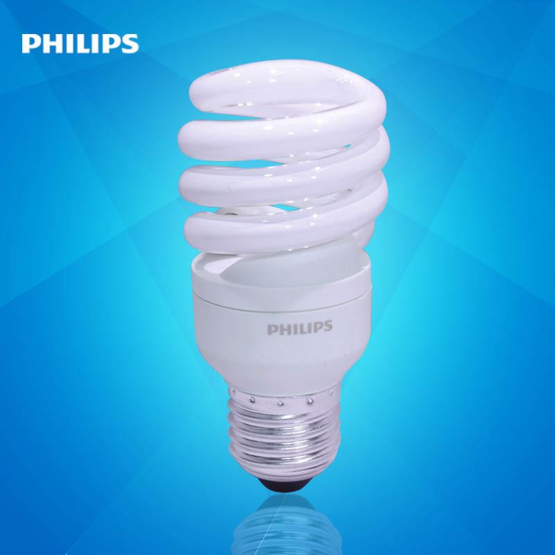 飞利浦节能灯螺旋型12W/E27/E14家用大螺口节能灯(新老包装随机发 )