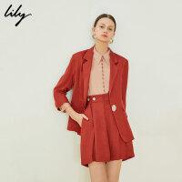 【超值一口价 到手价:190】Lily女装解构设计感chic宽松七分袖西装119230C2146