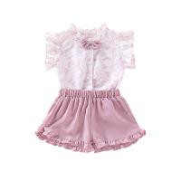 女宝宝夏季短袖套装婴儿女孩女童儿童夏装
