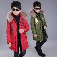 2017新款英伦童棉袄男童冬装上衣中大童儿童印花棉衣童装