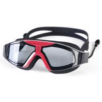 夏季大框游泳镜 游泳眼镜泳镜 男女通用泳镜带耳塞 装备 黑色