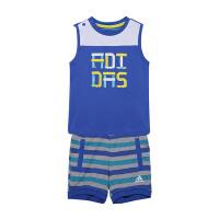 adidas阿迪达斯童装男婴童短袖T恤运动套装BJ8103